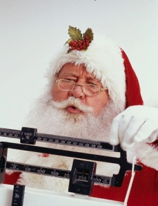 Santa Claus Tipping the Scale
